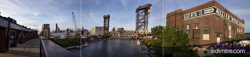 Chicago Amtrak Railroad Bridge Pan 8433