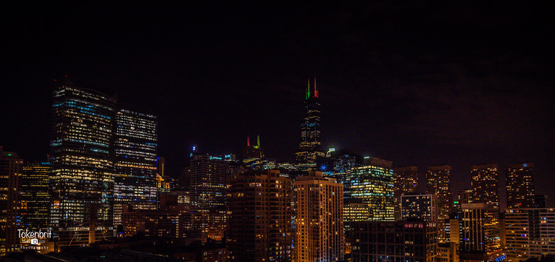 Chicago Holiday Skyline LR-8751