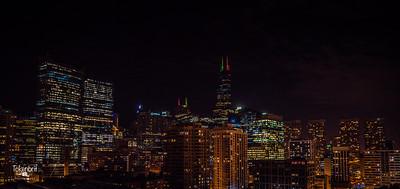 Chicago Holiday Skyline LR-8751