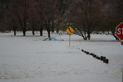 Short Street Lisle IL near SeaLions Pool - this cars gone swimming as well.