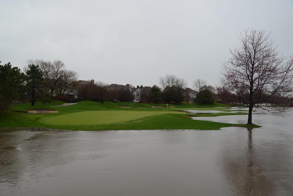 A dry hole at Seven Bridges Golf Course
