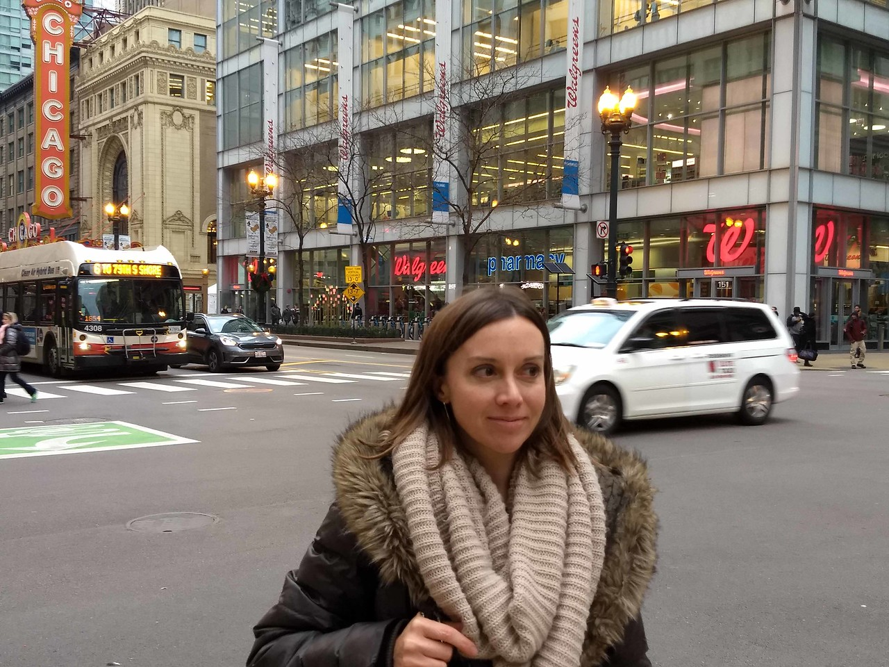 04 Carrie near the Chicago Theater