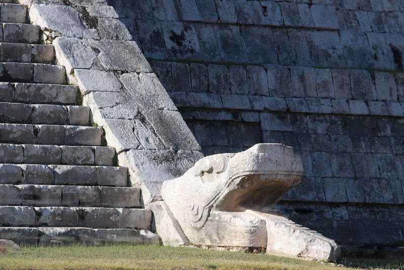 One of the Serpents at the Temple of Kukulcan