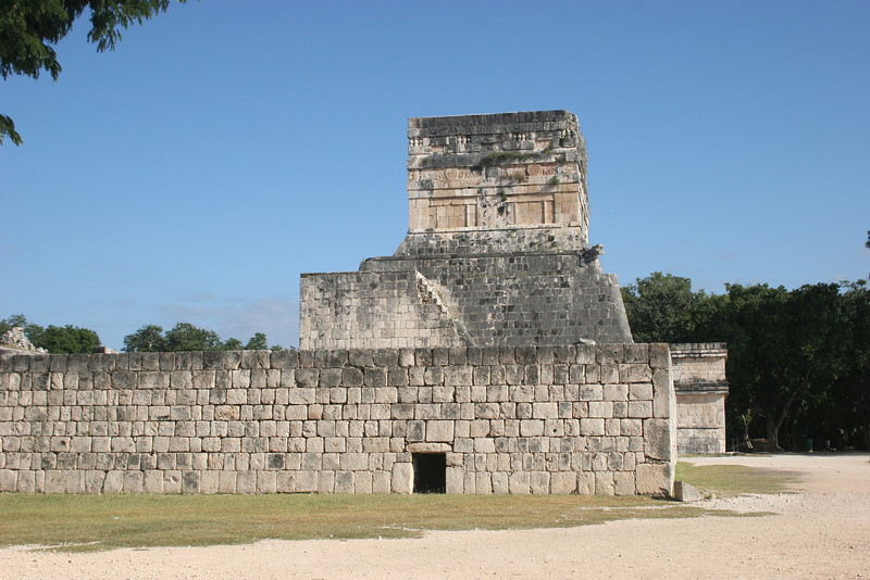 Jaguar Temple from the Ball Court