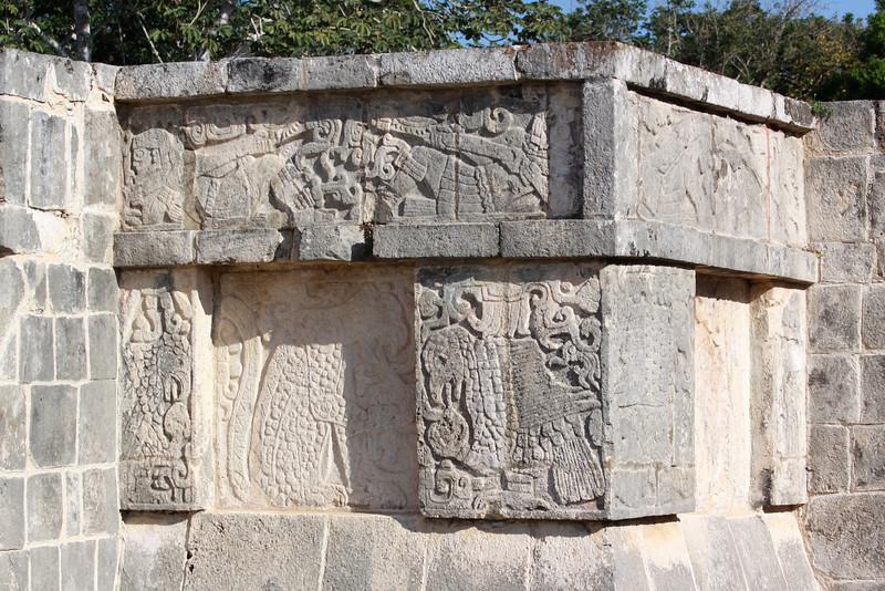 Carving details - platform of Eagles and Jaguars