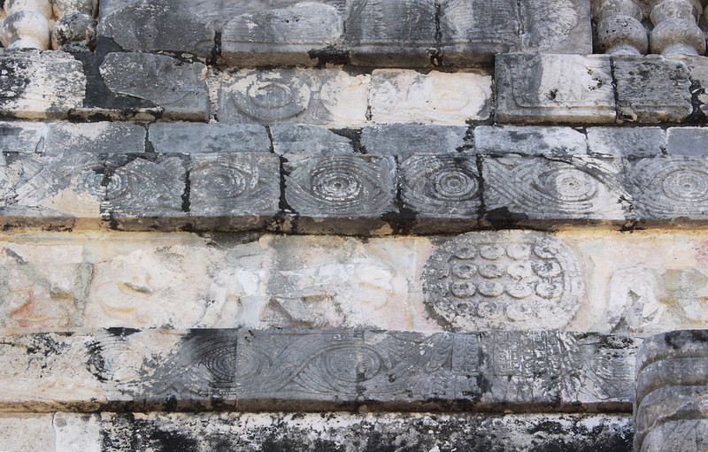 Detail of part of the Ball Court wall.