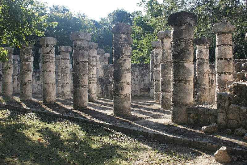 Columns leading from the Warriors Temple