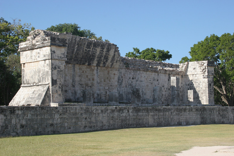 This structure faces North up the Ball Court and is thought to be for spectators.