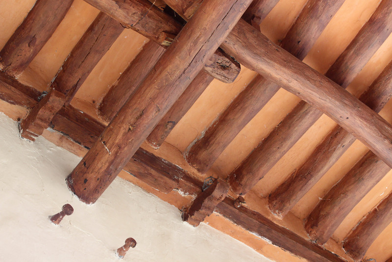 The roof structure is essentially as it was built by it's first spanish owners