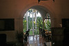 Entrance to the open air dining room..