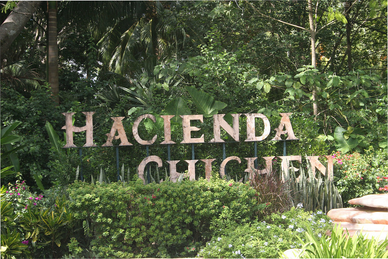 Entrance to the hacienda.