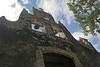 Facade of the Hacienda Chichen mission church that is being restored.