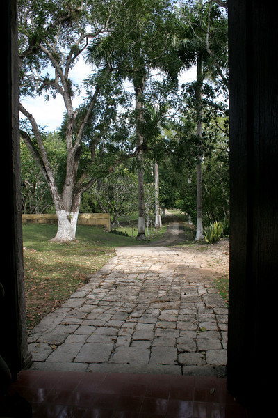 This 14th century paving leads to the Mission Chuch that was a part of every hacienda