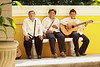 "While you eat you may listen to The Trio "" Los Trigarantes"" with their regional Mestizas style."