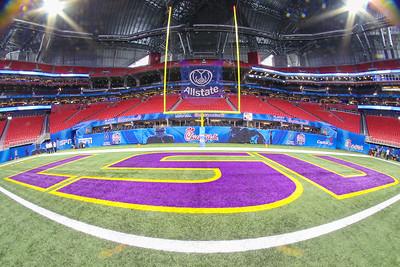 NCAA FOOTBALL: DEC 28  Chick-fil-A Peach Bowl CFP Semifinal - Oklahoma v LSU