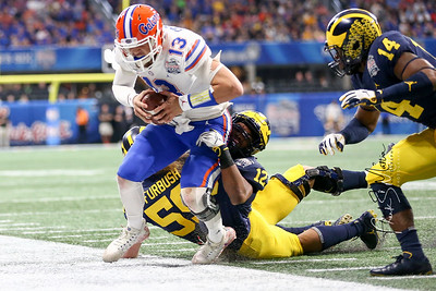 NCAA Football 2018: Chick-fil-A Peach Bowl-Florida defeats Michigan 41 - 15