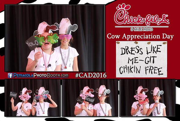 Chick-fil-a Cow Appreciation Day 7-12-2016