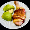 Cheesy Chicken Maryland wrapped with streaky bacon and served with avocado #dinner #yummylummy #foodporn #yummy #delicious #instafood #nikon