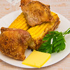 Chicken thighs and sweet corn