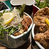 Saturday dinner. Motto Motto Karaage chicken and soft shelled crab.