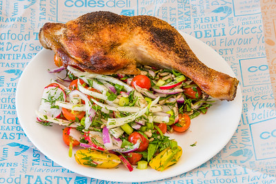 Wednesday dinner. Chicken Maryland and fennel and tomato salad.