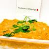 Mildly spicy butter chicken with Jasmine rice
