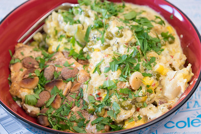 Whisky flavoured chicken and blue cheese casserole