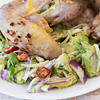 Chicken wings with avocado and fennel salad