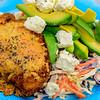 Saturday dinner. Chicken Kiev with celeriac slaw.