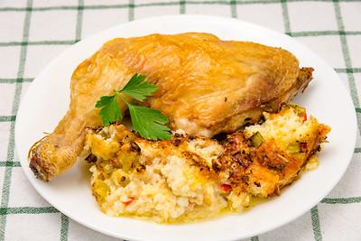 Roast chicken and cauliflower cheese