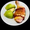 Chicken, cheese, bacon and avocado