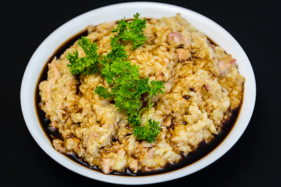 Chicken and bacon congee with quinoa