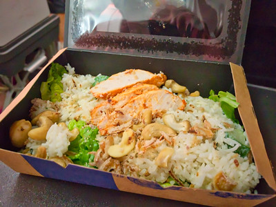 Chicken salad and rice