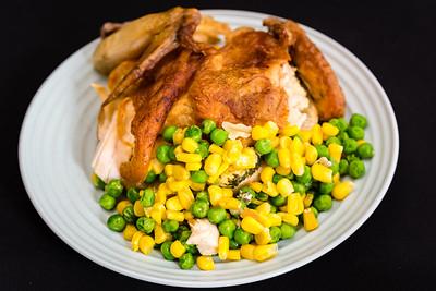 Leftover roast chicken