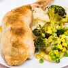 Sunday night Chicken Maryland and roast vegetables