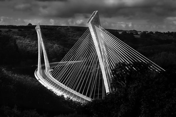 Terenez Bridge, Brittany, France