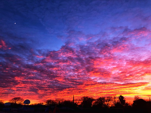 Sunset over Chico, California