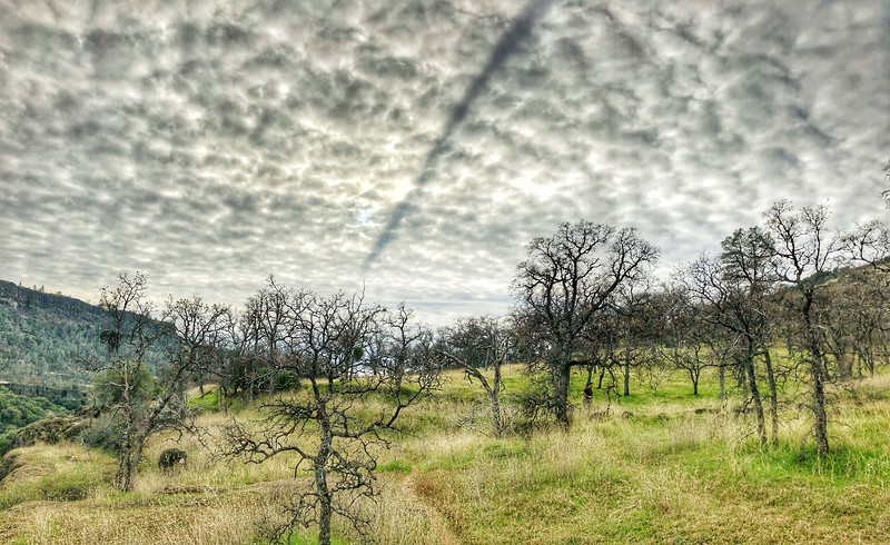 Salmon Hole afternoon storm clouds Chico California