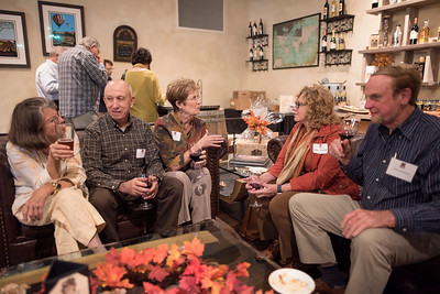 Guests enjoy the Chico Chapter Fall Mixer at Almendra Winery on Saturday, October 14, 2017 in Chico, Calif.  (Jessica Bartlett/University Photographer)