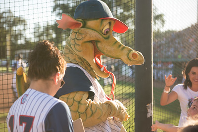 Heater greets fans during the Chico Heat home opener against Klamath Falls Gems, June 1, 2018,  in Chico, California. (Carin Dorghalli -- Enterprise-Record)