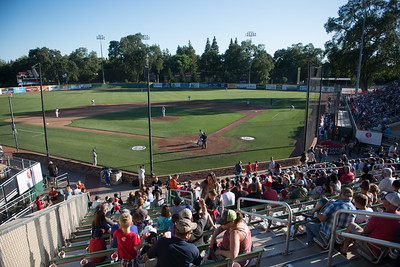 Nettleton Stadium is filled with fans during the Chico Heat home opener against Klamath Falls Gems, June 1, 2018,  in Chico, California. (Carin Dorghalli -- Enterprise-Record)