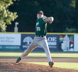 The Chico Heat host the Medford Rogues on the second night of a three night series Friday July 14, 2017 in Chico, California.  (Emily Bertolino -- Enterprise-Record)
