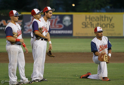 Chico Heat hosts the Lincoln Potters in a playoff game Tuesday August 8, 2017 at Nettleton Stadium in Chico, California. (Emily Bertolino -- Enterprise- Record)
