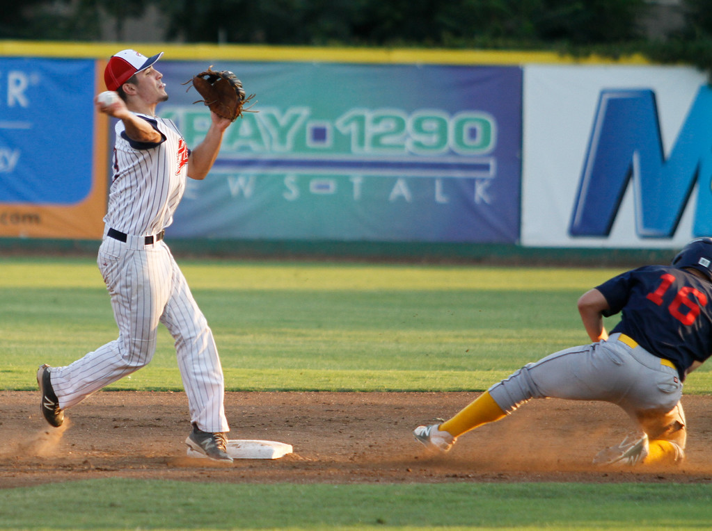 . Chico Heat hosts the Marysville Gold Sox on the third night of a three game series Saturday August 5, 2017 at Nettleton Stadium in Chico, California. (Emily Bertolino -- Enterprise- Record)