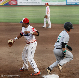 Chico Heat hosts the Medford Rogues in the first game of the Great West League championship series August 11, 2017 at Nettleton Stadium in Chico, California. (Emily Bertolino -- Enterprise- Record)