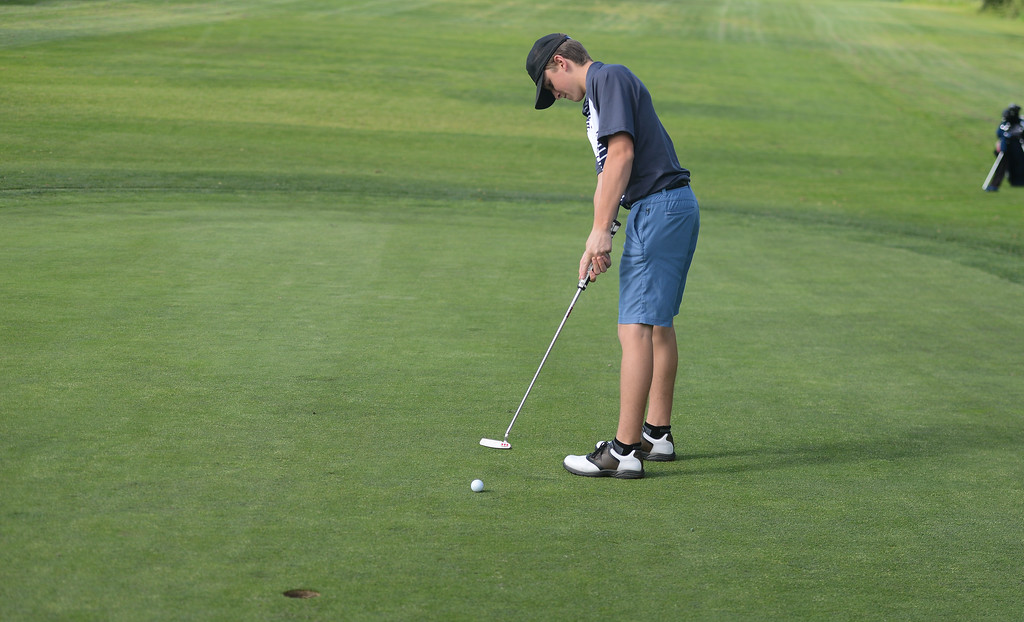 . Pleasant Valley High\'s Chase Fleshman golf, April 12, 2018, in Chico, California. (Carin Dorghalli -- Enterprise-Record)