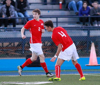 Chico High upsets Pleasant Valley High boys soccer team 98 game unbeaten streak by winning 1-0 Friday, January 19, 2018 Asgard Yard in Chico, California. (Emily Bertolino -- Enterprise-Record)