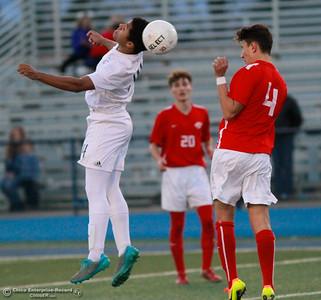 Chico High upsets Pleasant Valley High boys soccer team 98 game unbeaten streak by winning 1-0 Friday, January 19, 2018 Asgard Yard in Chico, California. (Emily Bertolino -- Enterprise-Record)