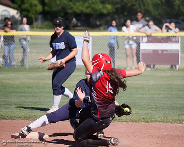 Pleasant Valley hosts Chico High School in the  Northern Section Division II championship softball game Wednesday May 17, 2017 in Chico California, California. Chico High goes on to win the NSCIF title 11-6 over Pleasant Valley.  (Emily Bertolino -- Enterprise-Record)