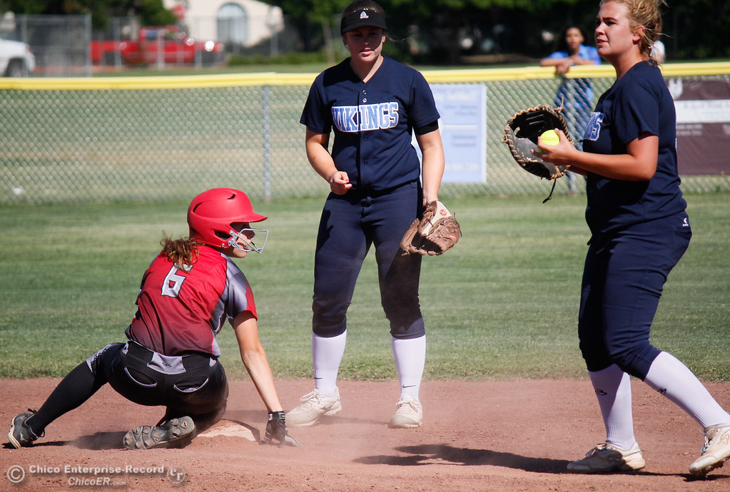 . Pleasant Valley hosts Chico High School in the  Northern Section Division II championship softball game Wednesday May 17, 2017 in Chico California, California. Chico High goes on to win the NSCIF title 11-6 over Pleasant Valley.  (Emily Bertolino -- Enterprise-Record)